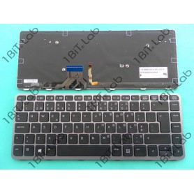 Teclado HP EliteBook Folio 1040 G1 1040 G2 Backlit Moldura Prata PT