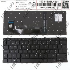 Teclado HP EliteBook x360 1030 G2 Backlit Sem Moldura PT