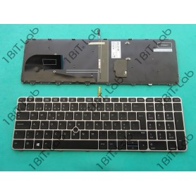 Teclado HP EliteBook 850 G3 850 G4 ZBook 15u G3 Com Point Stick Moldura Prata Backlit PT